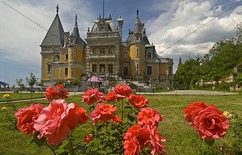 Palace among flowers