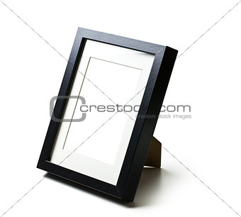 black desktop picture frame