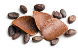 chocolate chips with cocoa beans