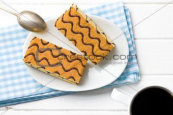 top view of sweet dessert