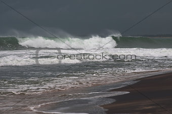 stormy Sea Waters before storm