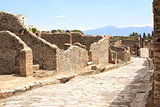 Ancient street in Pompeii, Italy