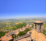 View from Monte Titano, San Marino