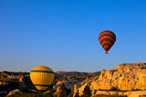 Hot air balloons in early morning