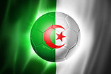 Soccer football ball with Algeria flag