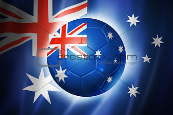 Soccer football ball with Australia flag