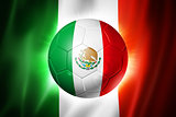 Soccer football ball with Mexico flag