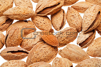 background from many fried almond