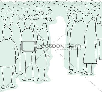 Crowd of Abstract People