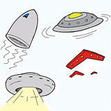 Flying Saucers Cartoons