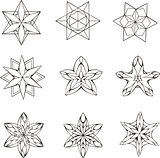 Dingbats in shape of star