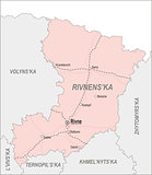 Map of Rivne Oblast
