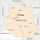Map of Vinnytsia Oblast