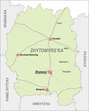 Map of Zhytomir Oblast