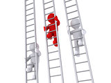 Race on three ladders