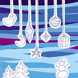 vector collection of Christmas tree decorations