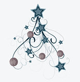 Artistic vector christmas tree