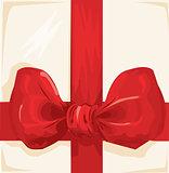 Gift ribbon. Vector.