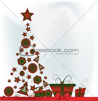 Christmas card, vector