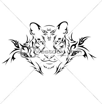 Tiger tribal tattoo