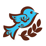 Decorative bird with wheat