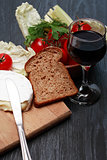 Camembert And Wine