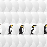 geometric pattern with circles and penguins