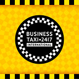 Taxi symbol with checkered background - 19