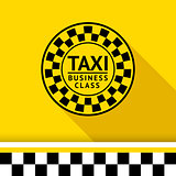 Taxi badge with shadow - 06