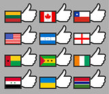 Flags in the Thumbs up-01