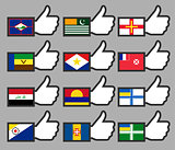 Flags in the Thumbs up-13