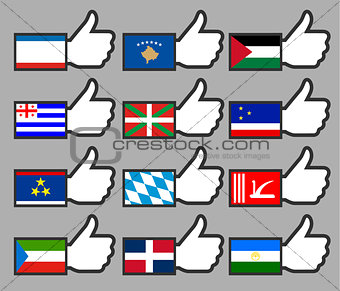 Flags in the Thumbs up-18