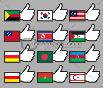 Flags in the Thumbs up-14