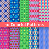 Colorful vector seamless patterns (tiling)
