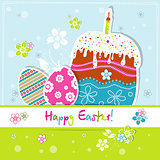 Template Easter greeting card, vector