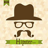 Hipster greeting card, vector