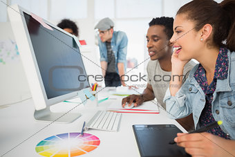 Casual photo editors using graphics tablet