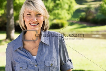 Beautiful woman in park