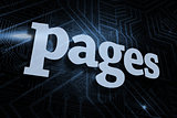 Pages against futuristic black and blue background