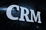 Crm against futuristic black and blue background