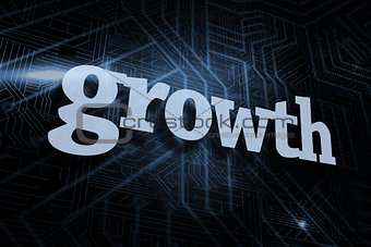 Growth against futuristic black and blue background