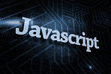 Javascript against futuristic black and blue background
