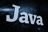 Java against futuristic black and blue background