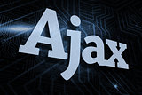 Ajax against futuristic black and blue background