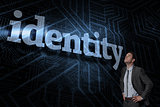 Identity against futuristic black and blue background
