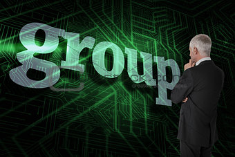 Group against green and black circuit board