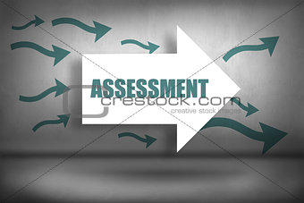 Assessment against arrows pointing