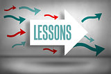Lessons against arrows pointing