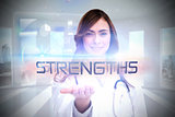 Strengths against global business hologram