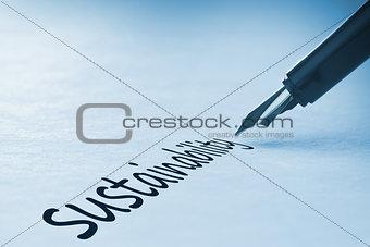 Fountain pen writing Sustainability